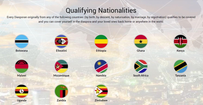 DiasporaFuneral Cash Plan Qualifying Nationalities