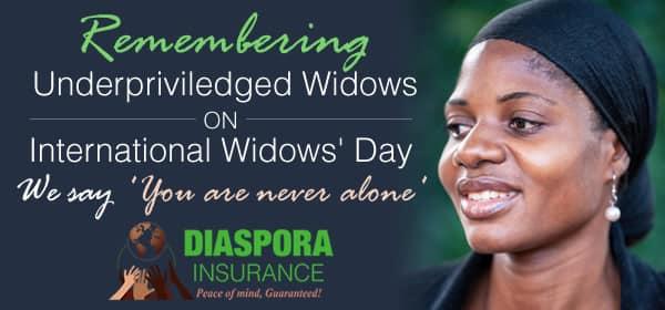 International Widows' Day Diaspora Insurance