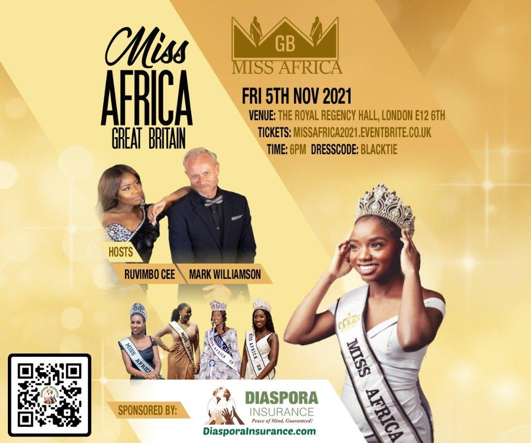Diaspora Insurance sponsors Miss Africa Great Britain 2021